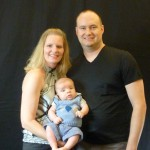 Mommy, Daddy, and I Getting Our Picture Taken.