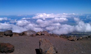 We are above the clouds!